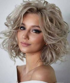 Hair Tutorials For Medium Hair, Medium Hair Styles, Curly Hair Styles, Hairstyles Medium Lengths, Medium Haircuts, Blonde Haircuts, Bob Hairstyles, Popular Hairstyles, Blonde Curly Hairstyles