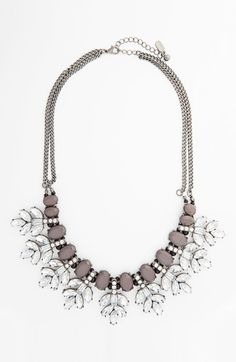 Sparkle couture crystal leaf statement necklace