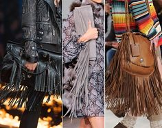 Fall/ Winter 2014-2015 Handbag Trends: Fringed Bags #bags #bagtrends #trends