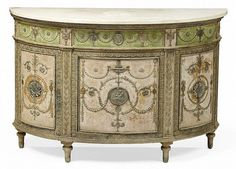 George III Demi-Lune Jardiniere Cabinet, C. 1775 - Attributed to Mayhew & Ince | invaluable