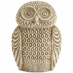 Embossed Ceramic Owl
