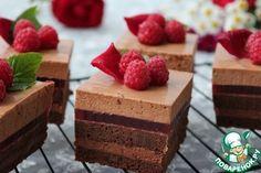"""Пирожные """"Шоколадно-малиновое удовольствие"""" - кулинарный рецепт"""
