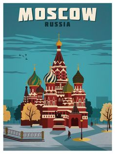 Vintage Moscow Poster by IdeaStorm Media. Available for sale here http://ideastorm.bigcartel.com/product/vintage-moscow-poster