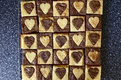 white-and-dark-hearted-brownies