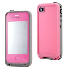 cool LifeProof Case iphone 4 | GEARONIC Pink Waterproof Shockproof Full Body Skin Case Cover Pouch for iPhone 4 4S 4G, Multi Purpose Protective Skin for water, shock, snow, dirt