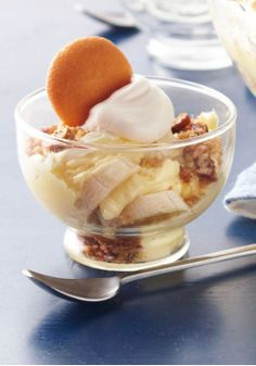 Deep-Dish Layered Banana Pudding – As if banana pudding weren't luscious enough on its own, we've gilded the dessert lily and layered it with vanilla wafers and a sweet pecan topping.