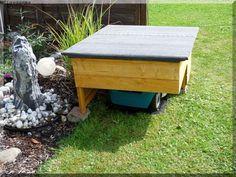 Meine Indego Garage - Bauanleitung zum Selberbauen - 1-2-do.com - Deine Heimwerker Community Garages, Outdoor Furniture, Outdoor Decor, Lawn Mower, Backyard, Diy, Garden Ideas, Gardening, Patio