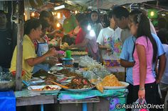 Food section at Phuket Town's weekend market
