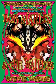 Bob Marley & The Wailers – Special Guest Stevie Wonder  - Poster