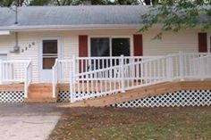6e9a65cba4aec8e79aa1b767fcc39460--build-a-deck-how-to-build Ramp Double Wide Mobile Home Porch on double wide with aluminum roof, double wide front porch ideas, beach house porch, cape cod porch, two story porch,