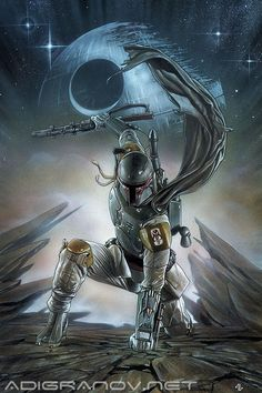 Star Wars #1 Forbidden Planet variant cover - Boba Fett by Adi Granov *