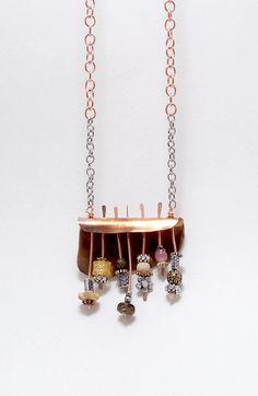 Copper shelf necklace by DreamCornerJewelry on Etsy