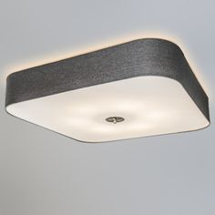 Good Deckenleuchte Drum deluxe quadratisch Jute grau Deckenlampe Lampe Innenbeleuchtung