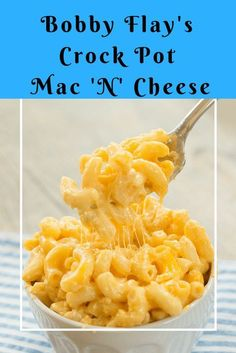 Bobby Flay Crock Pot Mac N Cheese - Recipes to Cook - Pasta Crockpot Mac N Cheese Recipe, Mac Cheese Recipes, Crockpot Dishes, Crock Pot Slow Cooker, Crock Pot Cooking, Crockpot Recipes, Bobby Flay Mac And Cheese Recipe, Cooking Turkey, Cooking Oil