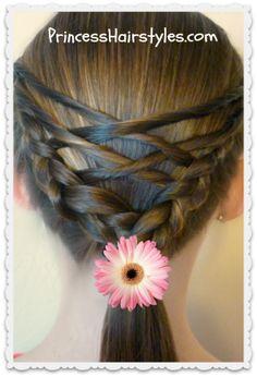 Woven twist ponytail tutorial