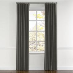 Charcoal Gray Linen Curtains with Pocket | Loom Decor