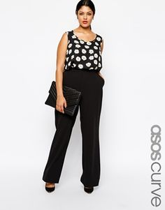 ASOS CURVE Exclusive Trouser with Wide Leg