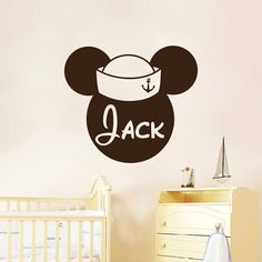 Personalized Name Boy Wall Decal Mickey Mouse by AmazingDecalsArt
