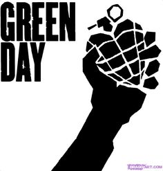 how to draw the green day heart grenade, letters step 6