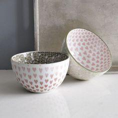 valentine pad-printed bowls @westelm
