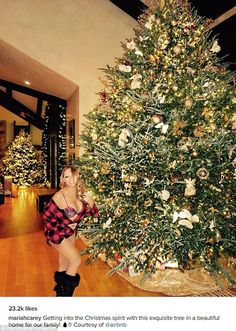 'Getting into the Christmas spirit': In an Instagram photo posted Tuesday, Mariah Carey p...