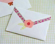 Omiyage Blogs: Washi Tape Your Envelopes