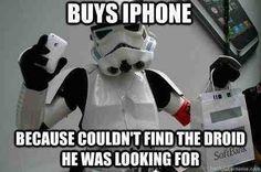 Buys iPhone...