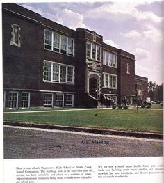 Hagerstown, Indiana. The old high school building.: