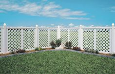 solid fence mixed with lattice fence - Google Search