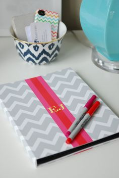 ipad case via etsy - also cool bowl, iphone case, & business cards. Chevron Groovy! Love the initials too!