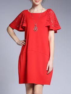 #AdoreWe #StyleWe Mini Dresses❤️Designer FAN SHANG Casual Short Lace Sleeve A-line Mini Dress - AdoreWe.com