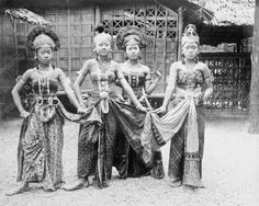 Asian Dancers 1889 Vintage 8x10 Reprint Of Old Photo