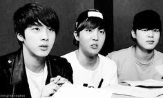 This is soooooo adorable.... Jin looked surprised when J-Hope screamed sooooooo cute