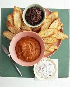 This spread can be covered and refrigerated for about 1 week. Bring to room temperature before serving with homemade crostini or store-bought crackers.