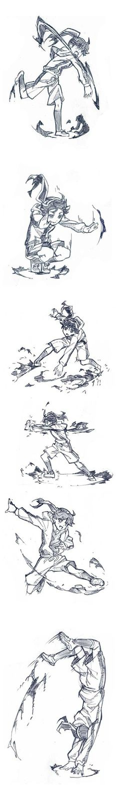 Il a ajouté un ki sa animation の grandes actions de combat de référence de croissant ...