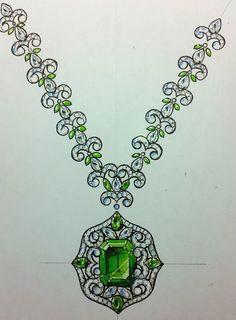 Simple Jewelry, Boho Jewelry, Fine Jewelry, Emerald Jewelry, Handmade Jewelry, Fashion Jewelry, Cartier Jewelry, Emerald Pendant, Emerald Necklace