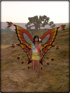 Faeline Fairy Wings - Riko (flame)