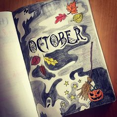 Hello October! It has been a hectic month so my poor journal has been a little neglected. Spent a bit of time Friday night setting up my October spreads and hoping for a slightly calmer month ahead. #bulletjournal #october #spooky #bujo #autumn #bulletjournaltitlepage #cobwebs #spiderseason