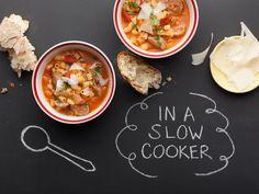 Slow Cooker Sausage, Bean and Pasta Stew Recipe