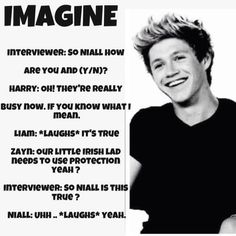 Too bad it's kinda not real! One Direction Niall, One Direction Images, One Direction Quotes, Niall Horan Imagines, Niall Horan Facts, Naill Horan, Funny Texts Pregnant, Midnight Memories, James Horan