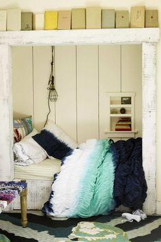 bed in closet