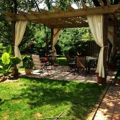 A pergola gives a secluded region and shade in the summertime. A pergola is something which will fall in that category. Then pergola is a superb choice. There's nothing quite like a gorgeous, modern-day pergola in order to add value… Continue Reading → Pergola Canopy, Outdoor Pergola, Wooden Pergola, Backyard Pergola, Backyard Landscaping, Pergola Lighting, Cheap Pergola, Landscaping Ideas, Backyard Storage