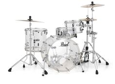 Pearl's new Crystal Beat acrylic drums in clear acrylic