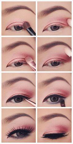 9 Pretty Pink Eyeshadow Tutorials | 12 Colorful Eyeshadow Tutorials For Beginners Like You! by Makeup Tutorials at http://makeuptutorials.com/colorful-eyeshadow-tutorials-for-beginners/