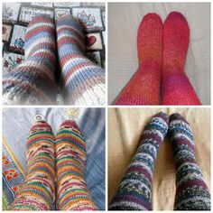 Siona: 005.- Patrón de calcetines con 5 agujas (gratis) Knitting Socks, Knit Socks, Molde, Recipe, Knitting Needles, Stocking Pattern, Gloves, Slippers, Geek Art