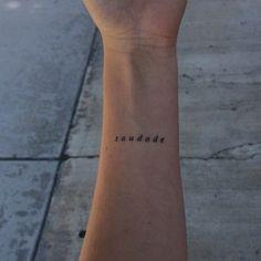 Saudade | tatuagem