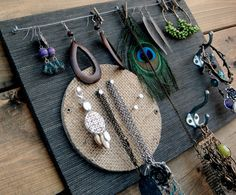Grass cloth Jewlry board.  I like the wire to hang earings and round cork board for an accent