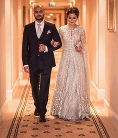 Another image of our stunning client Natasha Petafi of looking radiant in a Mina Hasan bridal at her wedding in London! Bling Prom Dresses, Backless Prom Dresses, Pakistani Wedding Dresses, Indian Wedding Outfits, Pakistani Outfits, Indian Dresses, Bridal Dresses, Pakistani Clothing, Wedding Hijab