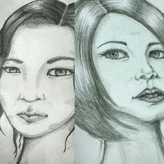 Women face sketch