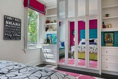 Great way to add closet space and other function to a small room.  Riverdale Home in Toronto - Transitional - Kids - Toronto - Patricia Halpin Interiors Inc